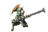 MH3U-Sword and Shield Equipment Render 001