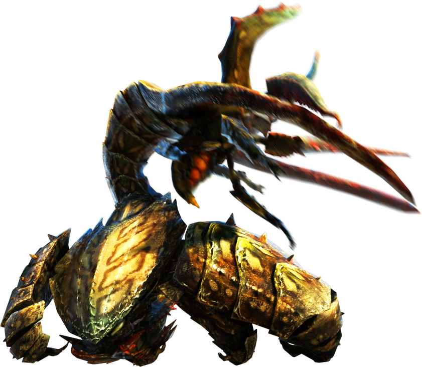 MH4U-Desert Seltas Queen and Desert Seltas Render 001.png