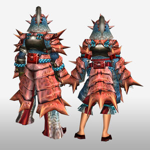 FrontierGen-Kukku G Armor (Blademaster) (Back) Render