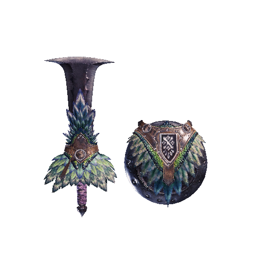 MHW-Sword and Shield Render 016