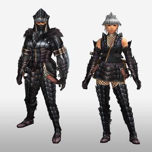 FrontierGen-Kokuei G Armor (Blademaster) (Front) Render
