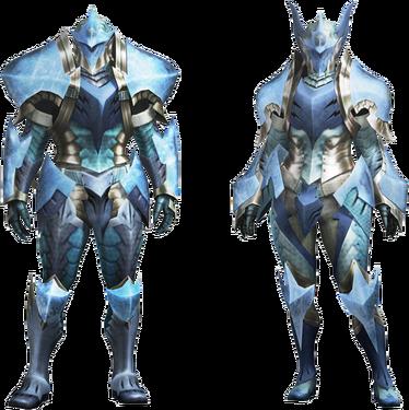 MH4U-Zamtrios Armor (Blademaster) Render 001