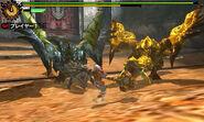 MH4-Azure Rathalos and Gold Rathian Screenshot 001