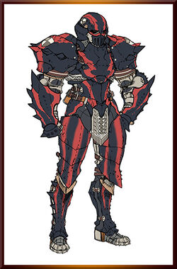 MHGen-Stonefist Hermitaur Armor (Male) Concept Art 001