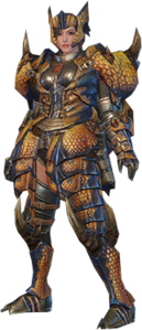 MHO-Tigrex Armor (Blademaster) (Female) Render 001