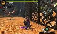 MH4U-Azure Rathalos and Pink Rathian Screenshot 001