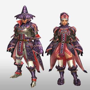 FrontierGen-Wadatsumi Armor (Blademaster) (Front) Render