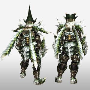 FrontierGen-Berudora Armor (Blademaster) (Back) Render
