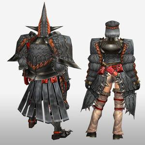 FrontierGen-Geryosu G Armor (Blademaster) (Back) Render