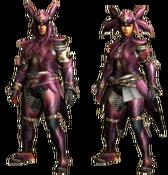 MHGU-Vespoid Armor (Blademaster) Render