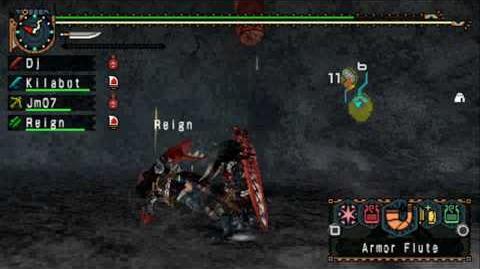 Monster Hunter Freedom Unite Portable 2nd G Two Red Khezu vs The Hawaiian Boys HD