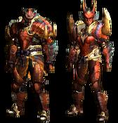 MHGU-Tetsucabra Armor (Blademaster) Render