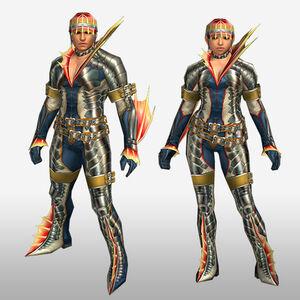 FrontierGen-Ganosu G Armor (Gunner) (Front) Render