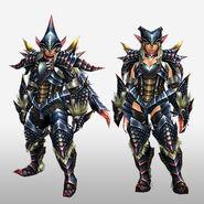 FrontierGen-Beru Armor (Blademaster) (Front) Render