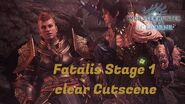 MHW Iceborne Fatalis Stage 1 clear cutscene