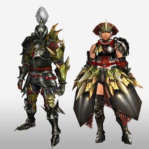 FrontierGen-Reia G Armor (Blademaster) (Front) Render