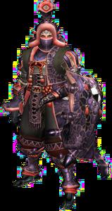 FrontierGen-Cham G Armor (Gunner) (Male) Render 001