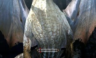 MH4U-White Fatalis Chest Break 001