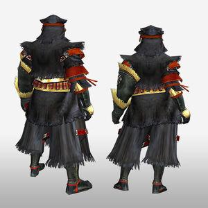 FrontierGen-Kuroko G Armor (Gunner) (Back) Render
