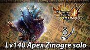 MH4U Lv140 Apex Zinogre solo (Insect Glaive) - 13'37