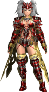 FrontierGen-Amista Armor (Female) (Both) (Front) Render 004