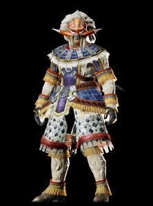 MHO-Blango Armor (Blademaster) (Male) Render 001