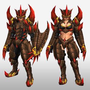 FrontierGen-Ranpeji Armor (Both) (Front) Render