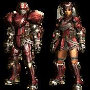 MHGU-Hermitaur Armor (Blademaster) Render