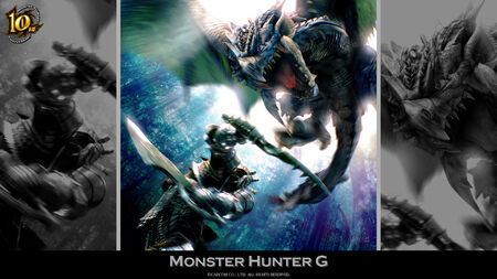 MH 10th Anniversary-Monster Hunter G Wallpaper 001