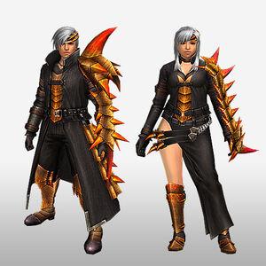 FrontierGen-Espina U Armor (Gunner) (Front) Render
