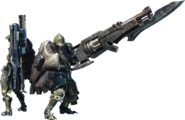 MHW-Gunlance Equipment Render 001