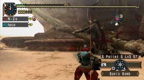 MHP2G MHFU One Horn Devil Diablos HBG Felyne Heroics