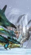 MHSP-Dragon Wind Kushala Daora and Azure Rathalos Screenshot 001