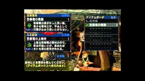 Monster Hunter Portable 3rd Cat Material Glitch