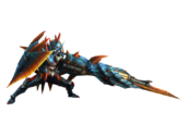 MH3U-Gunlance Equipment Render 001