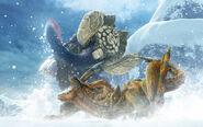 MHGen-Gammoth and Tigrex Artwork 001