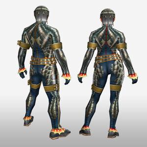 FrontierGen-Ganosu G Armor (Blademaster) (Back) Render