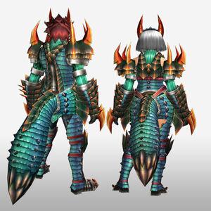 FrontierGen-Kyubyi Armor (Both) (Back) Render