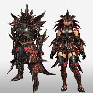 FrontierGen-Reusu G Armor (Blademaster) (Front) Render