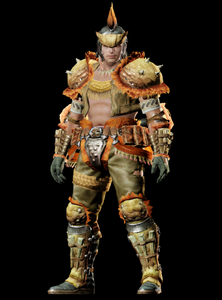 MHO-Gold Congalala Armor (Blademaster) (Male) Render 001
