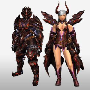 FrontierGen-Deyuru Armor (Both) (Front) Render