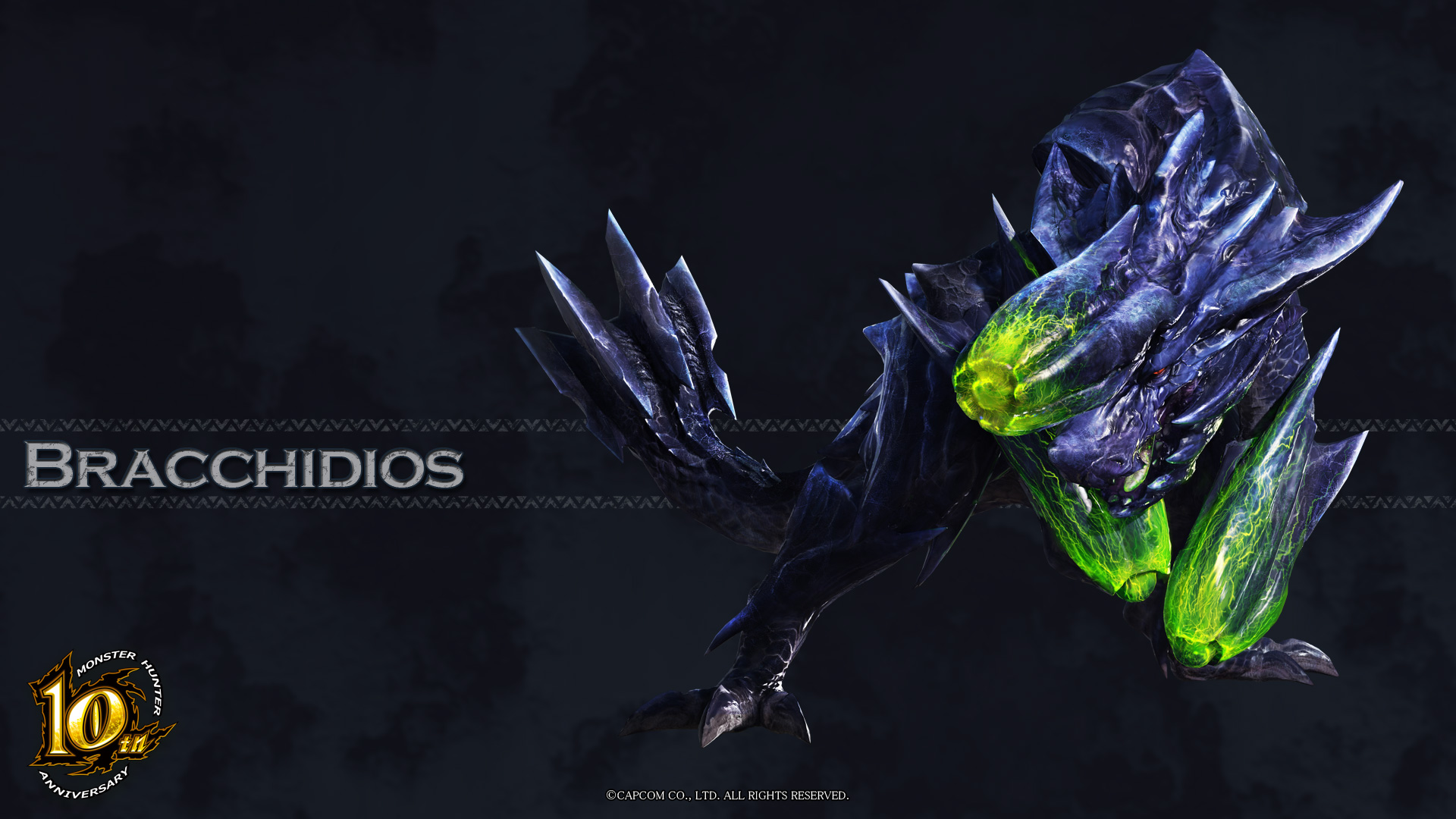MH 10th Anniversary Brachydios Wallpaper 001