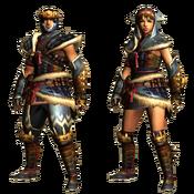 MHGU-Arzuros Armor (Both) Render