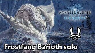 MHW IB Frostfang Barioth solo (Dual Blades) - 4'57