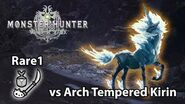 MHWorld Lv1 Insect Glaive vs Arch Tempered Kirin solo