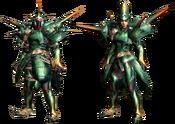 MHGU-Hornetaur Armor (Blademaster) Render
