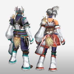 FrontierGen-Kanza Armor (Gunner) (Back) Render