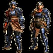 MHGU-Hunting Armor (Blademaster) Render