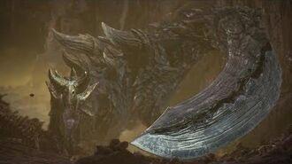 Monster Hunter World Iceborne - Acidic Glavenus Boss Fight (Solo Longsword)