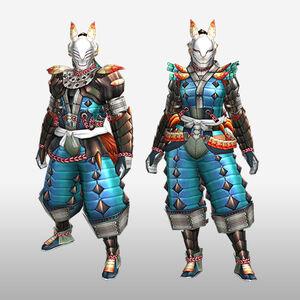 FrontierGen-Inari Armor (Blademaster) (Front) Render